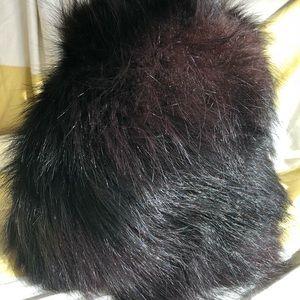 Vintage Mod black fur hat Bonwit Teller